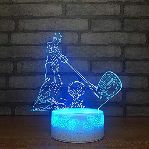 Bella base da golf crack luce notturna a led interruttore a sfioramento luce multicolore decorazione della stanza luce notturna per bambini