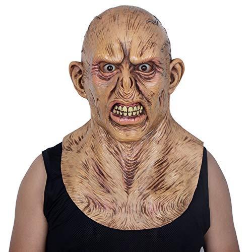 FLTVSN Máscara Halloween Máscara De Látex Aterradora De Cabeza Completa para La Colección De Halloween Creepers Máscara De L Atex Máscara Sangrienta De Zombie
