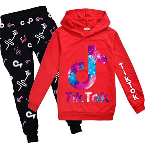 JIAOJIA Jogginghose Kleidung Set Hose Tik ToK Mädchen Hoodie Casual Boys 160cm