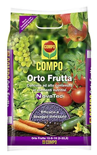 Compo Orto Frutta, Concime granulare studiato per Le Colture orticole e frutticole, con Tecnologia Novatec, 4 kg, 8,9x7x26,5 cm