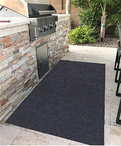 Gas Grill Mat,Premium BBQ Mat and Grill Protective Mat—Protects Decks and Patios from grease splashes,Absorbent material-Contains Grill Splatter,Anti-Slip and Waterproof Backing,Washable (36″×71.6″)