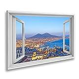 Bild auf Leinwand Fensterblick Neapel Neapel und der Vesuv