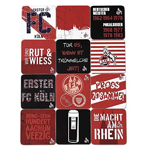 Unbekannt 1. FC Köln Kork-Untersetzer Titel 12-er Set