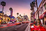 VLIES Fototapete-HOLLYWOOD-500x280 cm-10 Bahnen--Inkl. Kleister-EASYINSTALL PREMIUM-Los Angeles LA Kalifornien Neon
