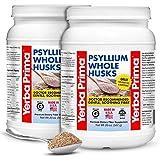 Yerba Prima PSYLLIUM Whole HUSKS Colon Cleanser, 20oz - 2 Pack (114 Servings Each)