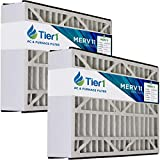 Tier1 16x25x5 Merv 11 Replacement for Trion/Air Bear AB-51625-11 AC Furnace Air Filter 2 Pack