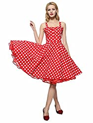 in budget affordable 1950s Maggie Tan Ladies Rockabilly Dress XL Red White