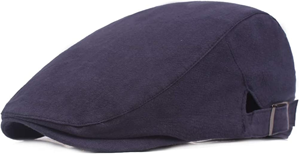 SEYMM Men Women Summer Cotton Adjustable Beret Hat Casual Outdoor Breathable Sunshade Forward Cap