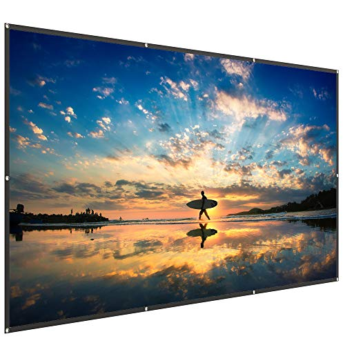 Why Choose TaoTronics TT-HP023 120 Inch Projector Screen 16: 9 HD Anti-Crease Projection Movies Scre...