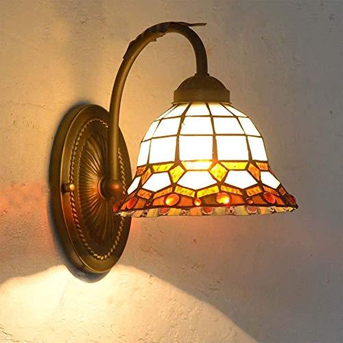 Lámpara de vidrio de color simple pared, lámpara de pared de hierro, noche salón luz de la habitación de hotel, cuarto de baño espejo de faro,B