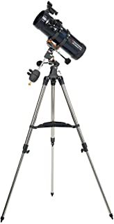 """Celestron 31042 AstroMaster 114 EQ Reflector Telescope with Basic Smartphone Adapter 1.25"""" Capture Your Discoveries"""