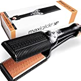Maxius Hair Maxiglide XP Hair Straightener and Styling Tool with Interchangeable Plates - Detangling Flat Iron Thick and Curly Hair - Steamburst Technology for Faster and Healthier Straightening