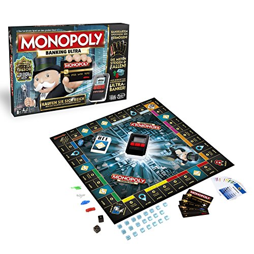 Hasbro Spiele B6677E39 - Monopoly Banking Ultra, Familienspiel