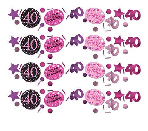 amscan 9900602 Konfetti 40 Pink