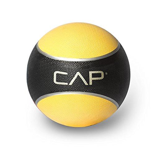 CAP Barbell Rubber Medicine Ball, 8-Pound, Yellow