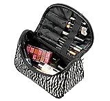 Joybuy 1Pc portátil Lady Cosmetic Bag Zebra Line Nylon Zipper Bag Bolsa de Maquillaje Lindo