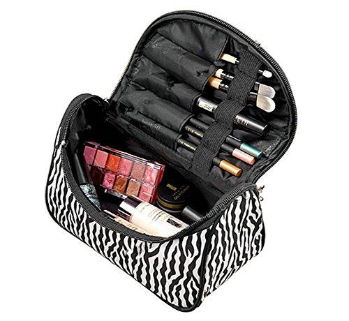 Toruiwa Trousse de Maquillage Dessin Léopard Sac de Toilette Pochette Cosmétique avec Fermeture Eclair pour Produits Cosmétiques Pinceaux Brosses