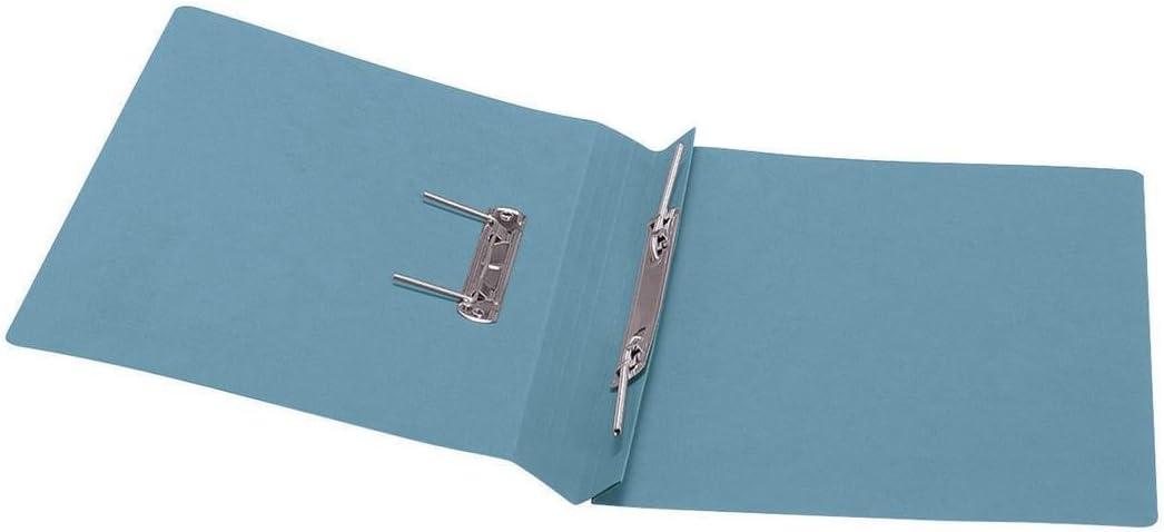 5 Star Office Transfer Spring File 315gsm 38mm Foolscap Blue Pack 50