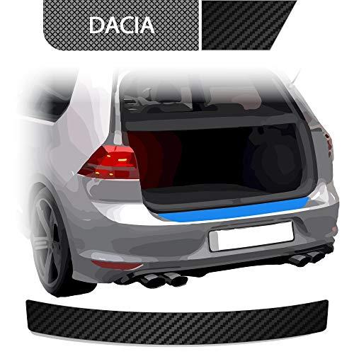 BLACKSHELL Ladekantenschutz inkl. Premium Rakel für Duster 1 2010-2018 Carbon Matt - passgenaue Lackschutzfolie, Auto Schutzfolie, Steinschlagschutz, Stoßstangenschutz