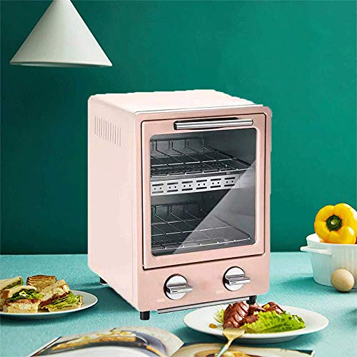 Mini Oven, Multi-Function kleine elektrische Roaster, Worktop oven en grill, Kleine Elektrische ovens Portable, Household Mini Barbecue (Color : Pink)