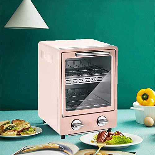Mini Oven, Multi-Function kleine elektrische Roaster, Worktop oven en grill, Kleine Elektrische ovens Portable, Household Mini Barbecue (Color : Pink)
