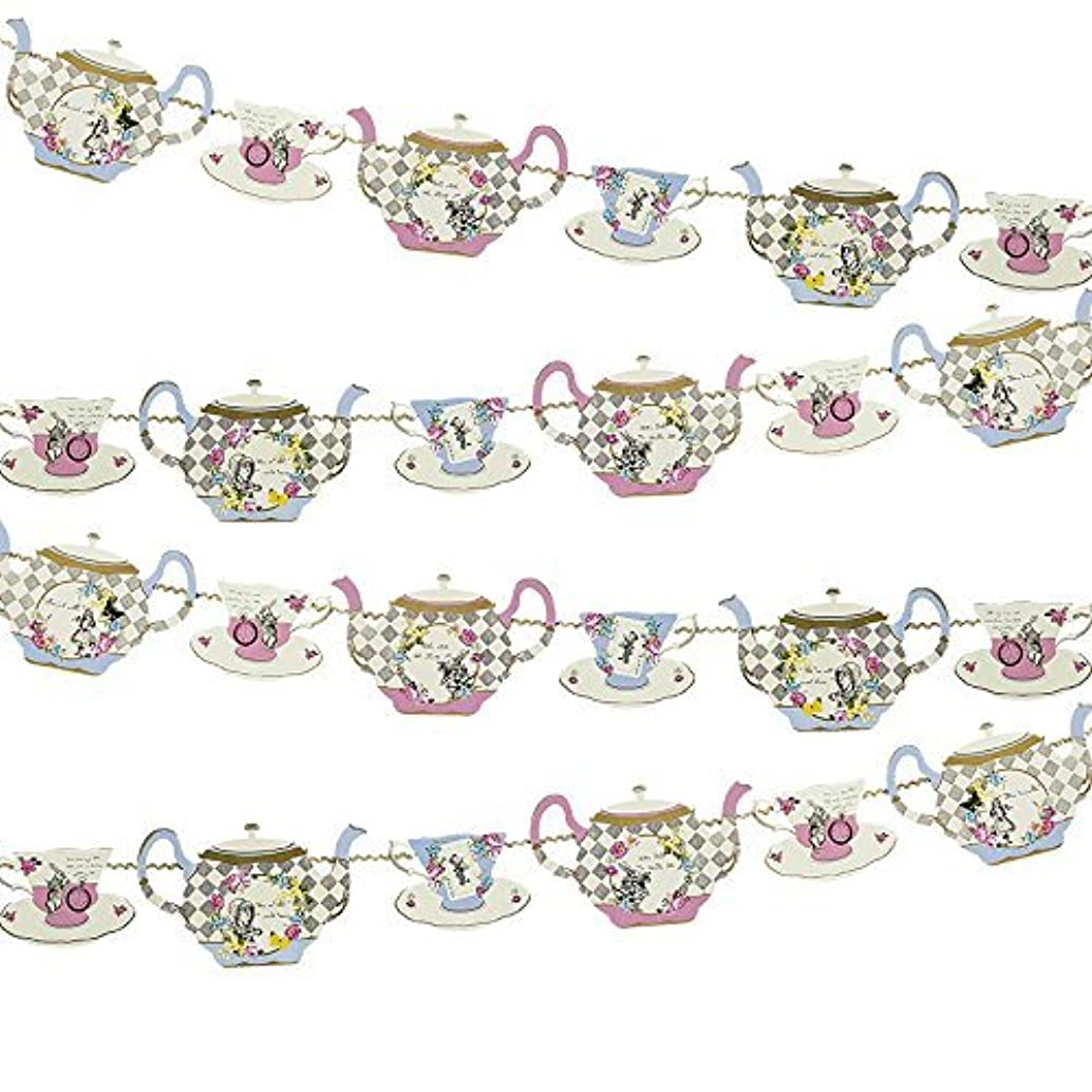 Talking Tables Truly Alice Hanging Teapot Bunting (4m) a Tea Party, Multicolor (2 Pack)