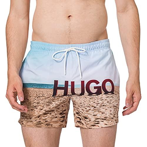 Hugo Boss Beech Baador para Hombre, Open Blue468, M