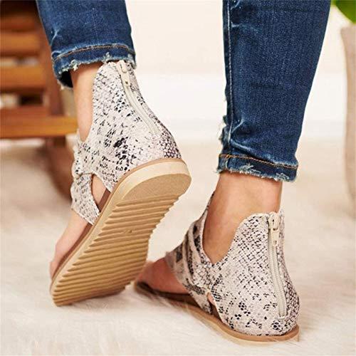 Sandalias De Moda para Mujer Sandalias con Patrón De Leopardo Cuñas Antideslizantes Zapatos De Verano