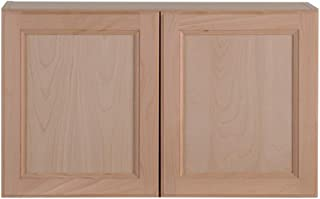 Hampton Bay Assembled 30 in. x 18 in. x 12.62 in. Easthaven Wall Cabinet in Unfinished German Beech