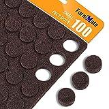 Small Felt Pads Bumpers 3/8' Diameter 100PCS Cabinet Door Pads Felt Dots 5mm...