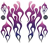 KA Mixer Decal Cover Kit Purple Mix Single Sticker Flame Kit Plum to Purple to White, Designed to Fit All Kitchenaid Stand Mixers, Including Professional 600, and Artisan. Mixer Not Included.