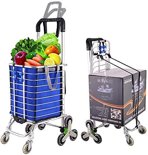 Rabbfay Medium Size Folding Carrello, Utility Montascale Trolley 25 kg di capacità, per Adolescenti, Anziani, Disabili, Messe,1