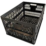 cutequeen Black 50-Liter Foldable Basket For Trunk Organizer Back Seat Protector Storage Organizer Multi Compartments Collapsible Portable for SUV Car Truck Auto