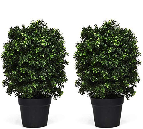Goplus 2Ft Artificial Boxwood To...
