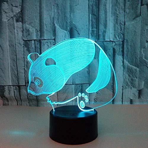 Panda 3D Lampe 7 Bunte Visuelle Stereo Panda Touch Lights Geschenk 3D Nachtlicht Usb Led Neuheit 3D Leuchten