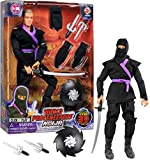 Click N' Play 12' Inch Ninja Action Figure Play Set With Accessories.