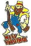 West Virginia Hillbilly with Straw Hat and Moonshine Jug Fridge Magnet