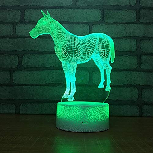 Horse and Unicorn e Motion 3D LED Night Light USB Table Lamp Kids Birthday Gift Bedside Home Decoration