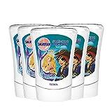 Sagrotan No-Touch Kids Nachfüller Entdeckerpower Aloe Vera, 5er Pack (5 x 250 ml)