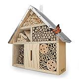 WILDLIFE FRIEND Insektenhaus für Bienen, Marienkäfer, Florfliegen & Schmetterlinge, Bienenhotel & Nisthilfe zum aufhängen