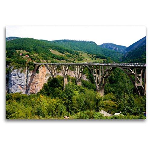 Un puente de arco sobrepasa la trampa de la tara., 120 x 80 cm