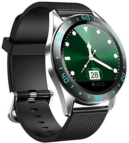 Smartwatch, Fitness Armband Tracker Voller 5ATM Wasserdicht Smart Watch Intelligente Aktivitäts Uhr Sportuhr, Damen Herren Pulsmesser Schlafmonitor SMS Beachten Armbanduhr für Android iOS(grün)