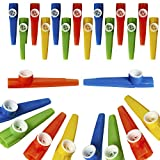 Kicko Plastic Kazoo – 24 Pack Assorted Colors Noisemakers - Two Dozen Musical Instruments - for Birthday gift, Party Favor Bags, Goody Bag Stuffers