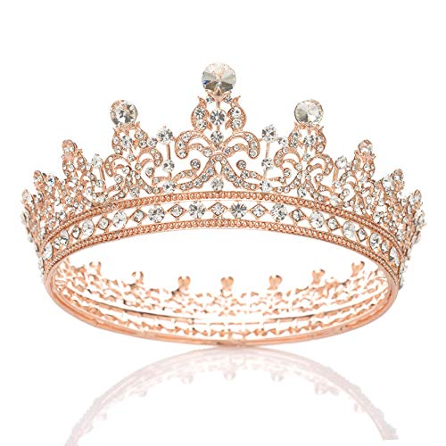 SWEETV Couronne de reine de mariage en strass pour femme –...