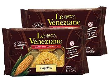 Le Veneziane Capellini- Gluten Free Pasta 8.8 oz  2 Pack