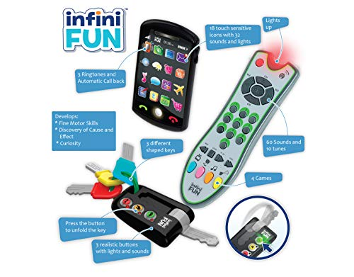 Kurio - Juegos electrónicos para niños, teléfono, Llaves y Control Remoto (DES0889)