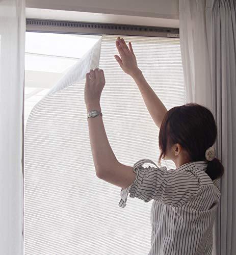 萩原 すだれ ホワイト 約90×200cm 日よけ 室内窓貼り用 「スリムホワイト90」 350114311
