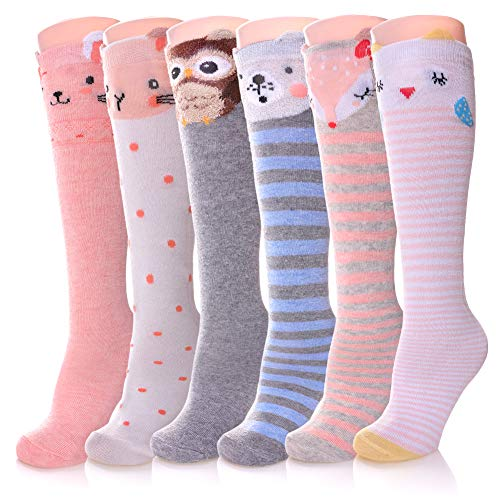 Color City Girls Socks Knee High St…