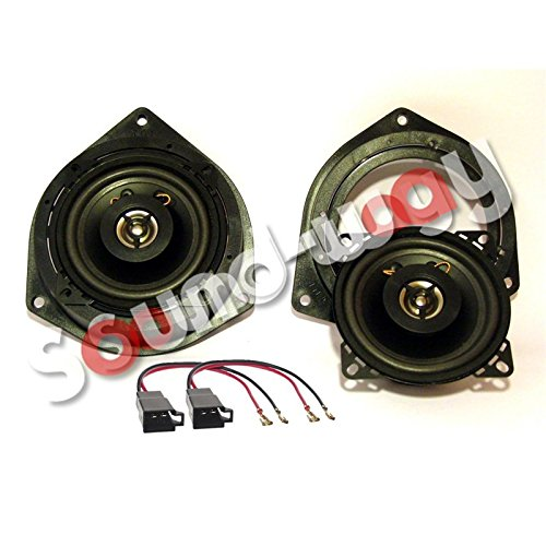 Sound-way 2-weg Luidsprekers Autoradio Speakers 10 cm compatibel met Fiat, Alfa Romeo, Opel