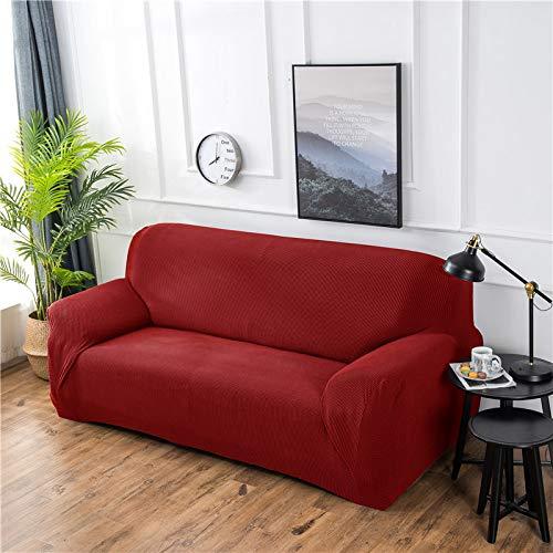NOBCE Impresión de la Cubierta del sofá Fundas de sofá elásticas Fundas de sofá para Sala de Estar Sofá de Esquina Toalla Funda de sofá Funda de Muebles Funda roja 145-185CM
